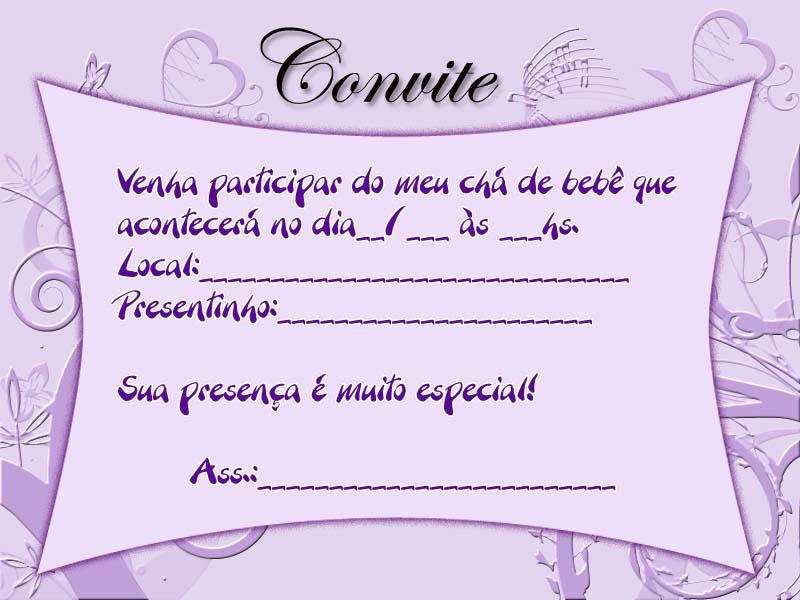 Convite Ch   De Beb   Lindo   Modelo Menina