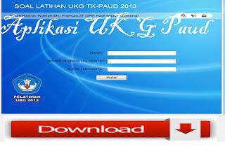 Download 3 Aplikasi UKG Plus Aplikasi UKG Paud / TK 2015