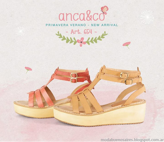 Sandalias 2014 Anca & Co verano 2014 snadalias. Moda sandalias 2014.