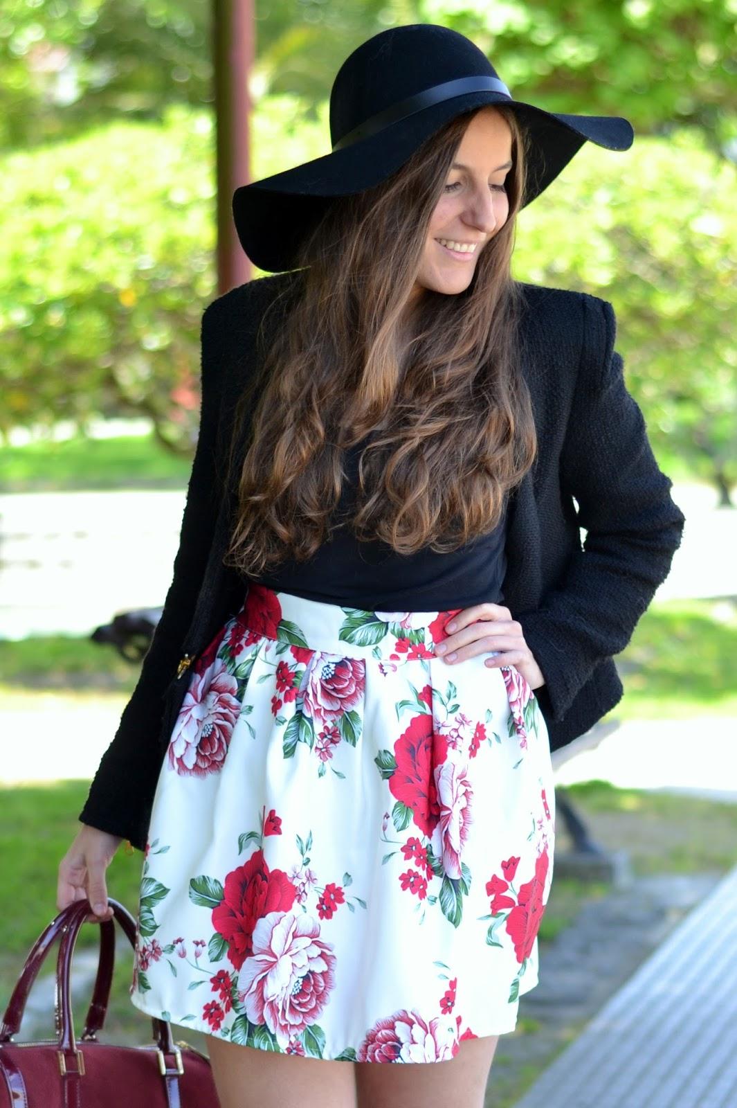 floral print Sheinside skirt