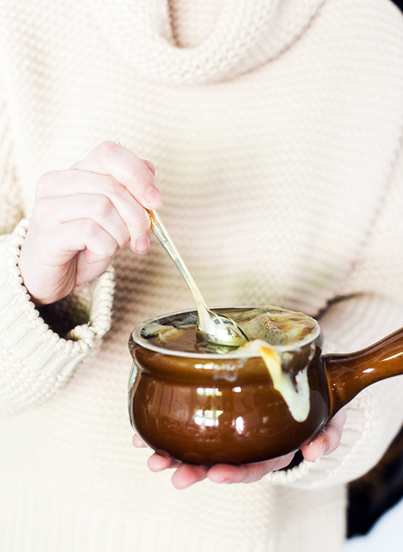 MOOD 48_14   warming up with this smoked french onion soup via Waiting on Martha