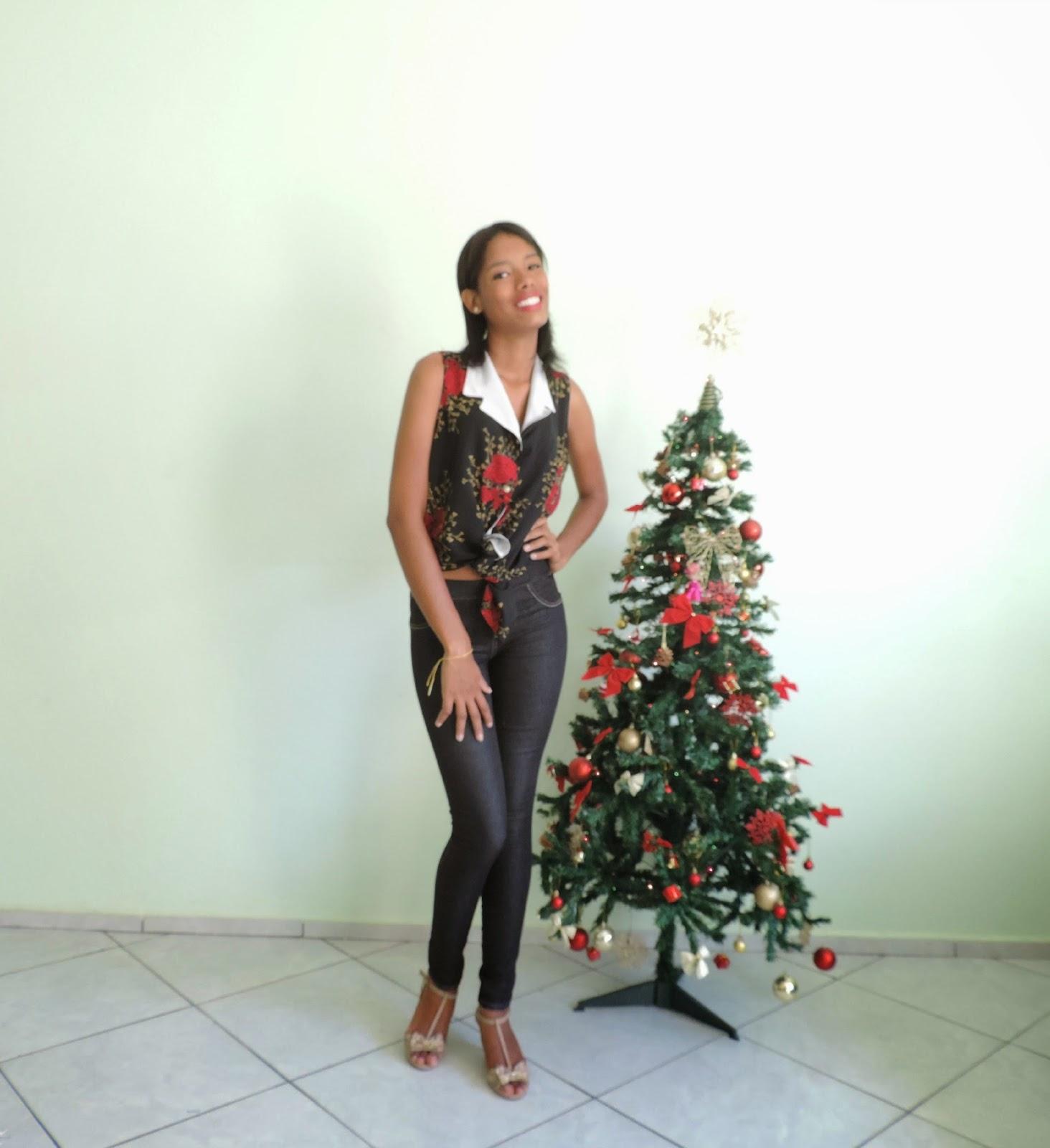 Look do dia Especial de Natal: Vermelho e preto