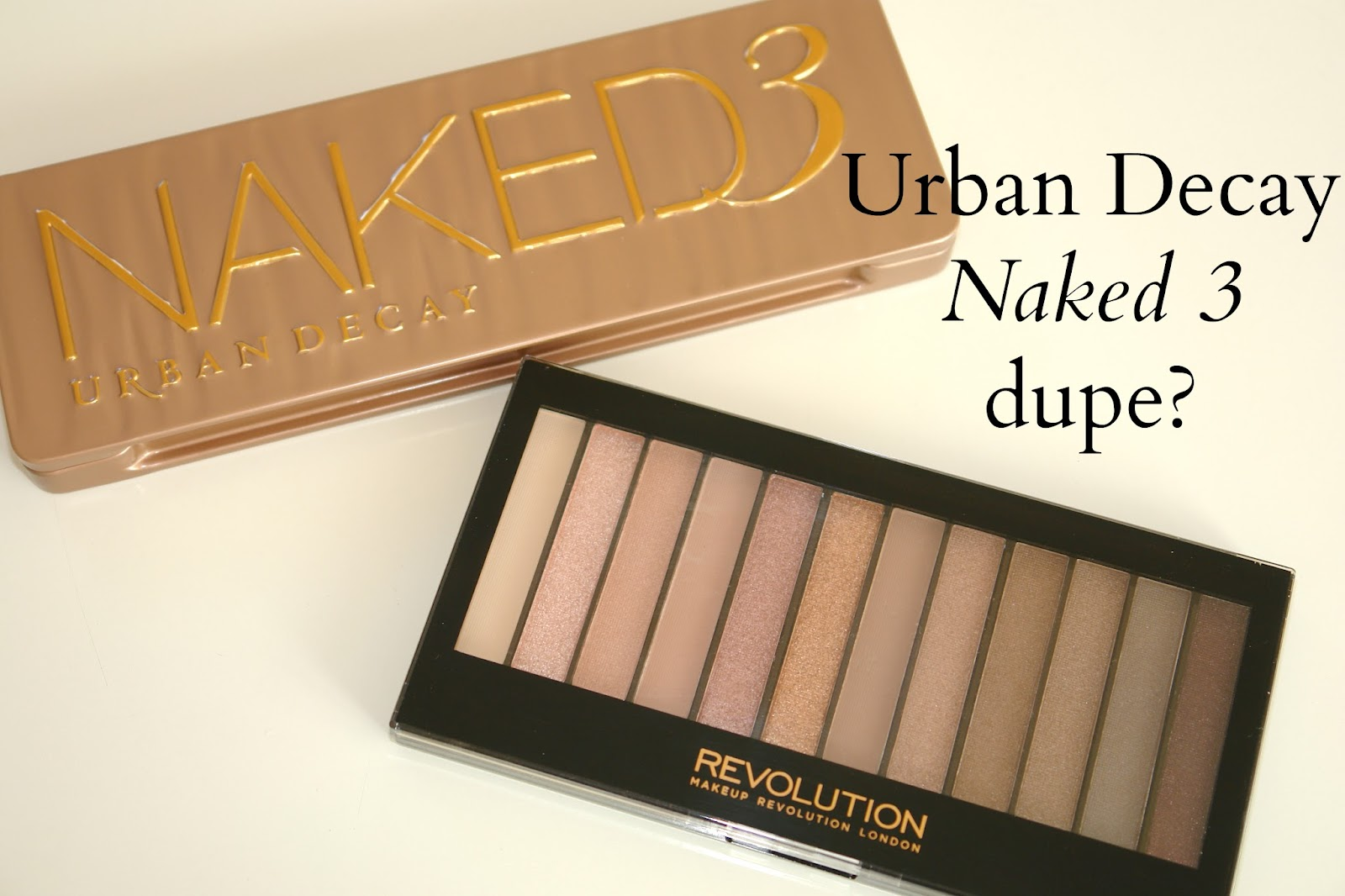 Urban Decay Naked 3 palette dupe for £4 from Make up Revolution, Redemption Palette Iconic 3, swatches, Make up Revolution, Urban Decay, eye shadows, palette, make up, review, Urban Decay Electric Palette, comparison, Naked 3,