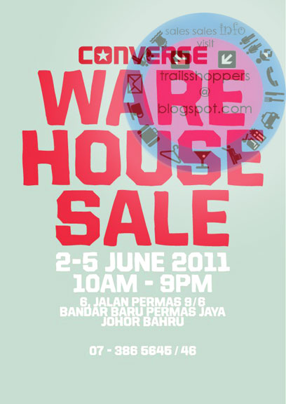 CONVERSE Warehouse Sale: 2-5 June 2011 | Trailsshoppers Daily Edition