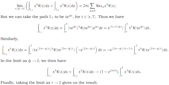 Complex Analysis: #19 Integrating Out From a Pole equation pic 3