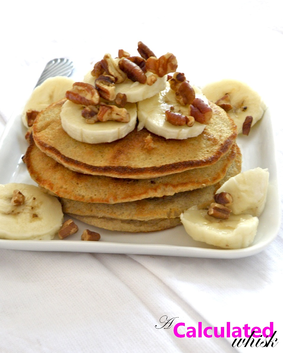Banana Pecan Pancakes - A Calculated Whisk