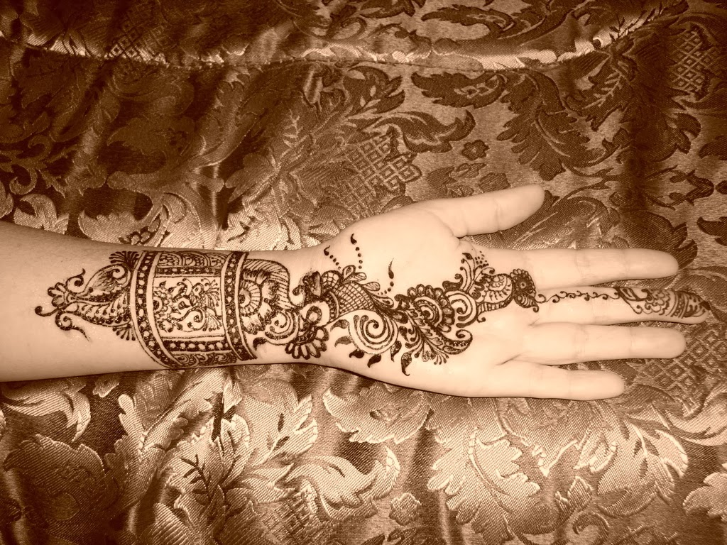 Beautiful Mehndi : Beautiful latest simple arabic pakistani indian bridal