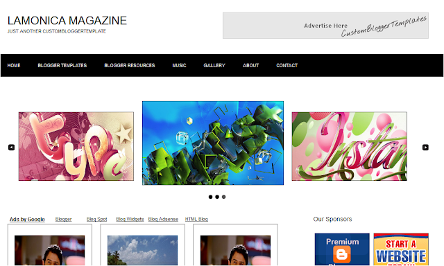 Modern Magazine Blogger Template