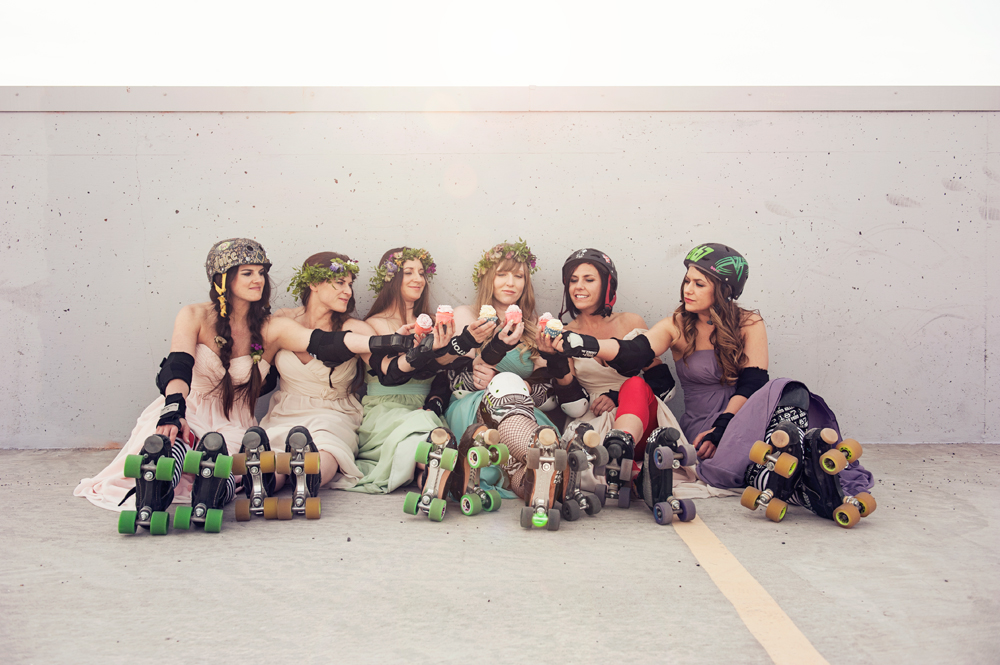 Gallatin Roller Girls Bridesmaids