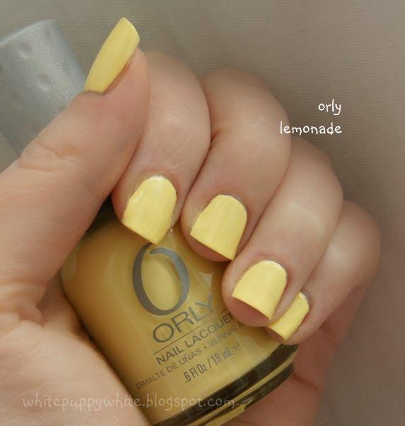 Желтые ногти лак