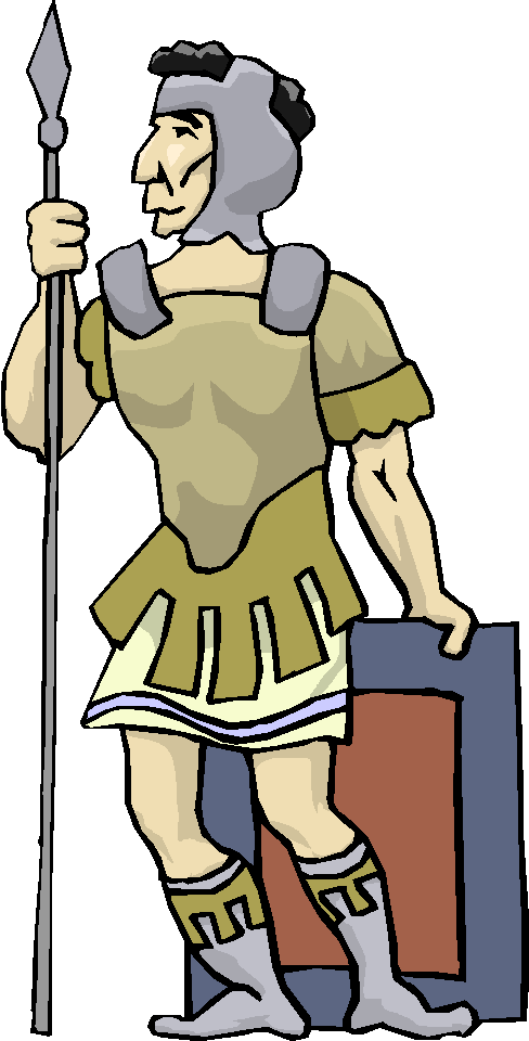 Standing Warrior with Spear Free Clipart