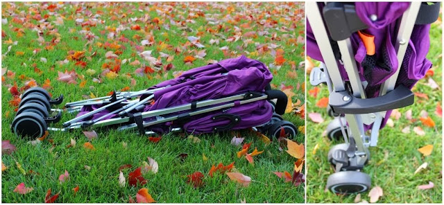 Joovy Groove Ultralight in Purpleness Collapsed