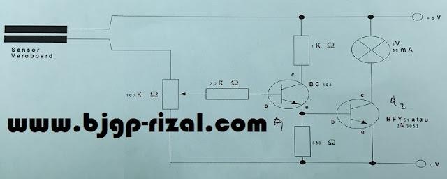 Rangkaian Sederhana Sensor Pendeteksi Air