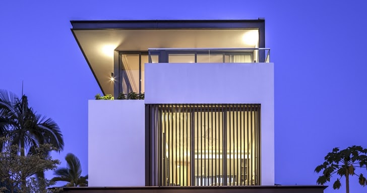 World of architecture thin but elegant modern house by wallflower architecture design - Wall flower design ...
