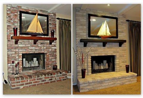 Fireplace Decorating Painting A Brick Fireplace