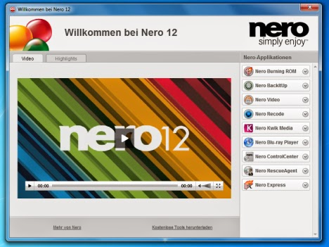 nero 12 platinum full version with key free