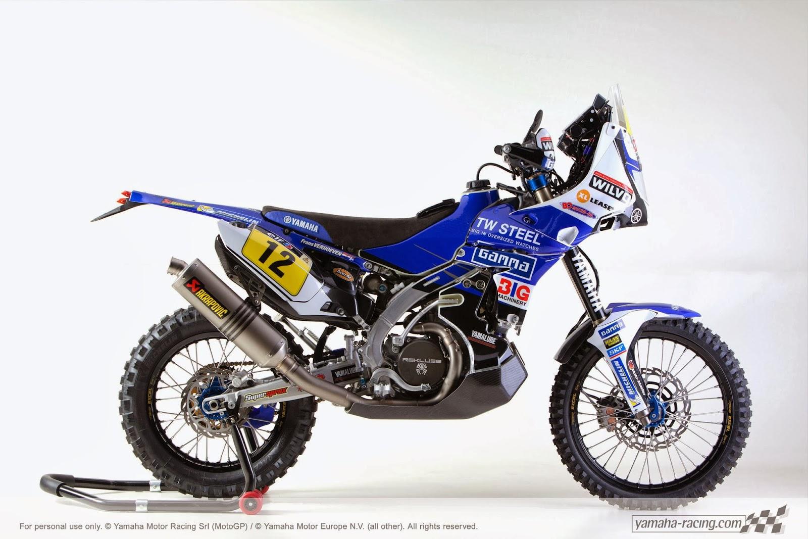 Yamaha yz 450f rally f verhoeven dakar 2014