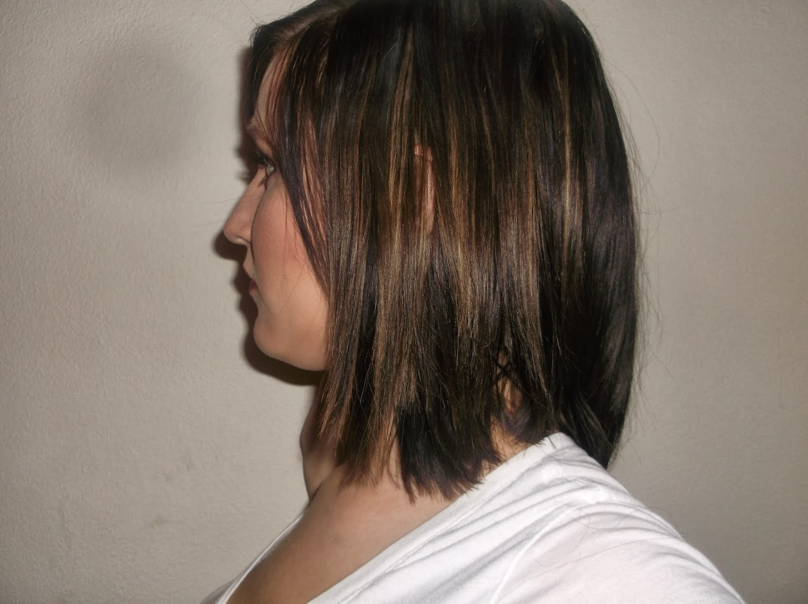 ... 18> Images For - Dark Brown Hair With Blonde Peekaboo Highlights