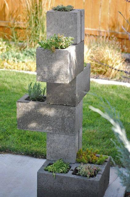 Cinder BLocks Garden Tower