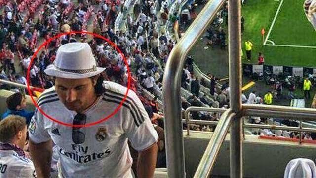 شبيه ميسي شجع ريال مدريد في نهائي لشبونة
