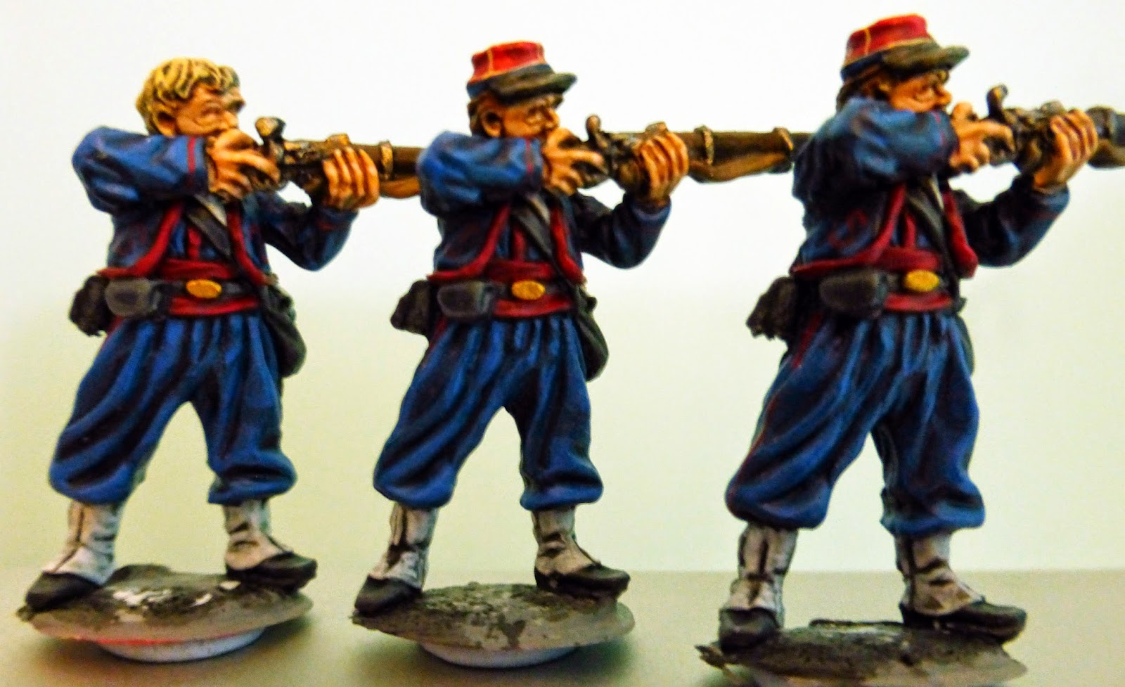 28mm American Civil War ACW Casualty   set in Slouch hat.