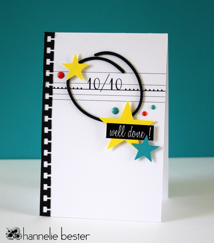 well done school inspired card