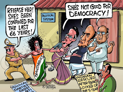 Transparency not suitable for Indian politics