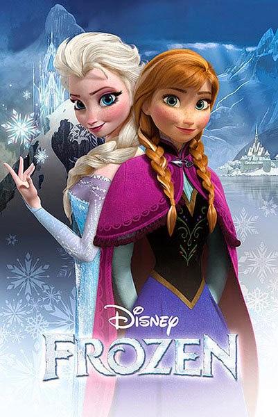 Poster Anna y Elsa de Frozen El Reino de Hielo
