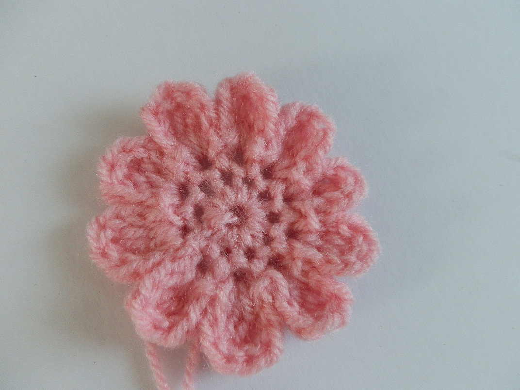 Free Crochet Flower Patterns For Baby Hats : A Beanie A Day: PINK BABY CROCHET HAT WITH CROCHET FLOWER ...