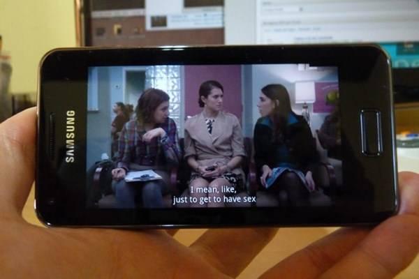 O Galaxy S II lite suporta vários formatos de vídeo