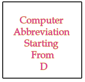 The Your Web Abbreviation Of Computer