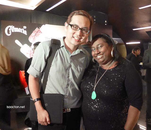 With Vanitha from the PR handling Nestle La Cremeria's account