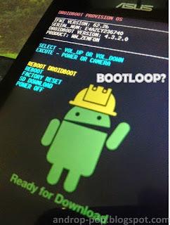 Cara Flash Ulang Asus Zenfone 4 Bootloop Tanpa PC