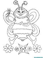 Gambar Lebah Untuk Diwarnai
