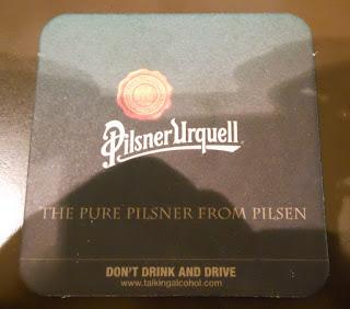 posavasos de la marca de cerveza Pilsner Urquell