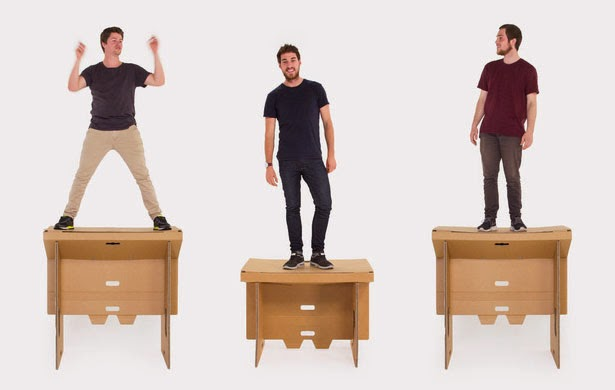 One Cool Eco-Friendly Portable Cardboard Desk Seen On www.coolpicturegallery.us