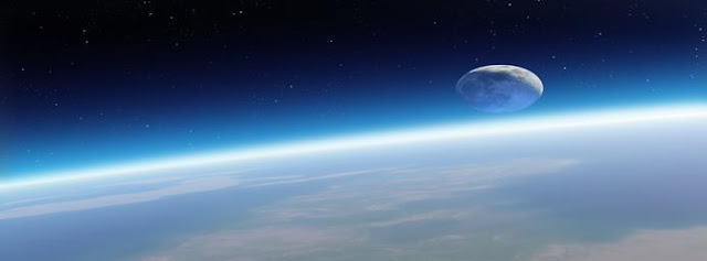 Earth and Moon Facebook Cover