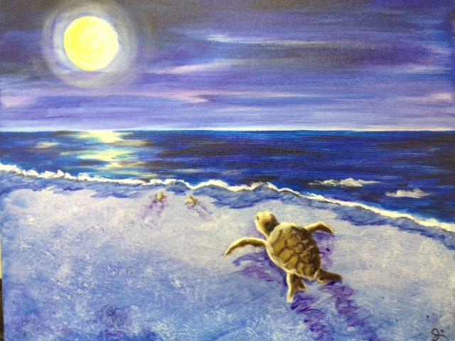 A Night To Relax And Try Something New What Better Way Than With Fellow NMB Sea Turtle Patrol Volunteers Painta Of Course