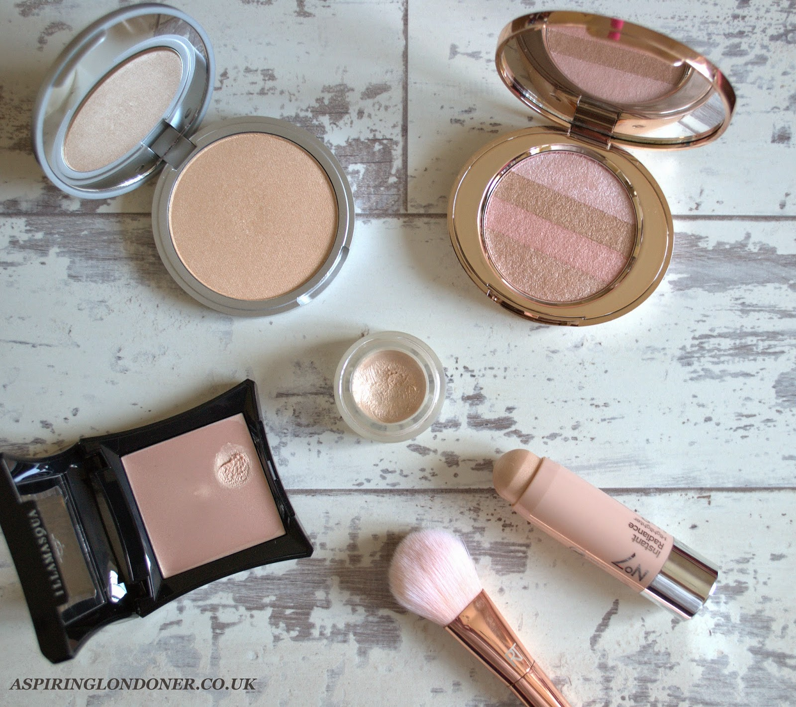 Summer Glow Getter Highighters ft Illamasqua, Topshop, No7, theBalm - Aspiring Londoner
