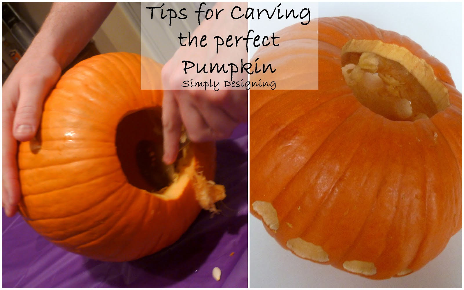 5 simple ways to carve and decorate your pumpkin for Cool easy ways to carve a pumpkin
