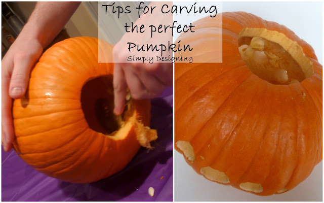 Tips for Carving the Perfect Pumpkin from Simply Designing #pumpkins #pumpkincarving #halloween #carvingpumpkins