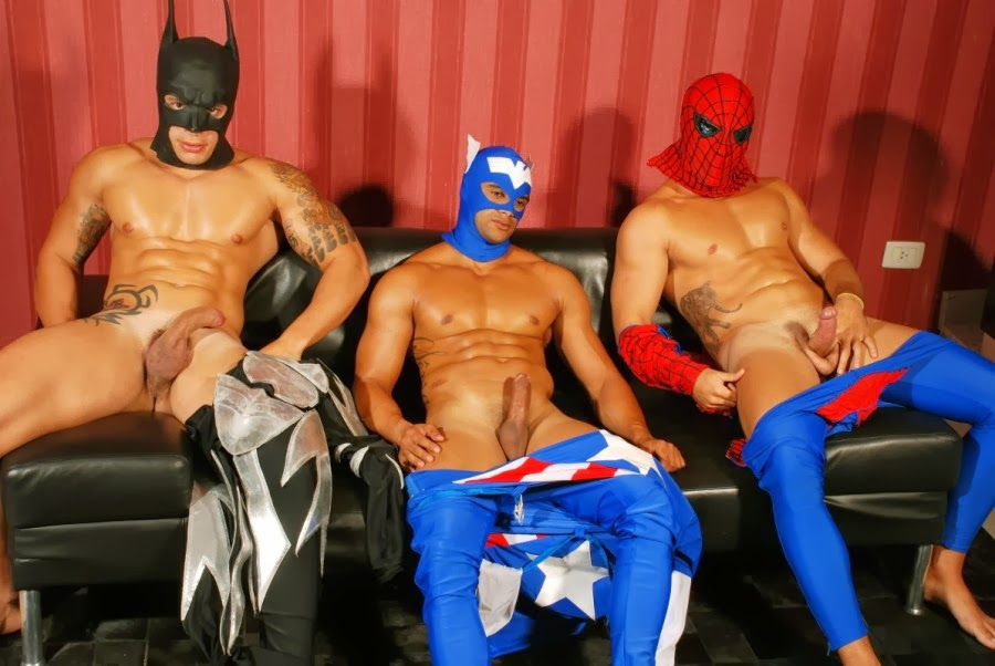 naked super hero males