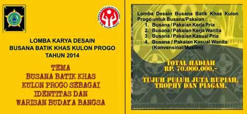 Lomba Desain Busana Batik Khas Kulon Progo 2014