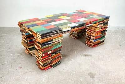 stolik z ksiązki design stolik DIY z książek