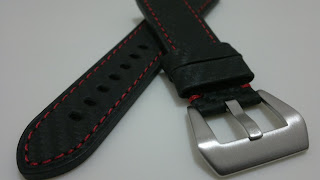 24/22 Carbon Fiber Design & Red Stitch