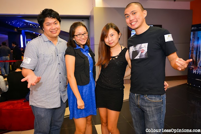 Bloggers ColourlessOpinions.com's Tony Teh, Iris Loong & Bernard Chung at GSC 2013 Year End Media Get Together Party