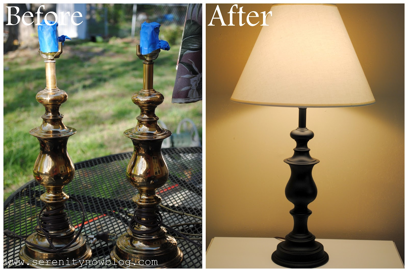 serenity now free and fast lamp makeover