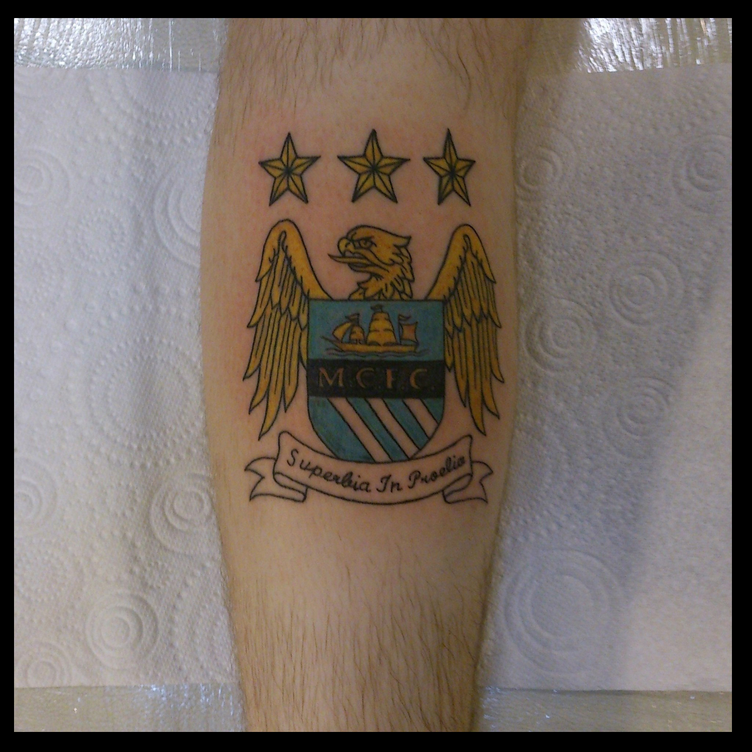 philip towers tattoo artist man city badge. Black Bedroom Furniture Sets. Home Design Ideas