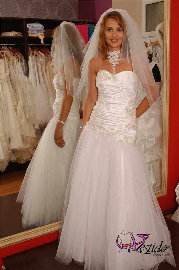 Suknie ślubne Vestido Suknia ślubna Tiul I Tafta