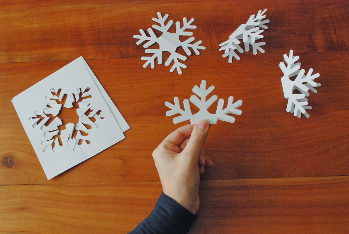 Fiocchi Di Neve Di Carta Facili : Fiocchi di neve di carta semplici decorazioni natalizie fai da te